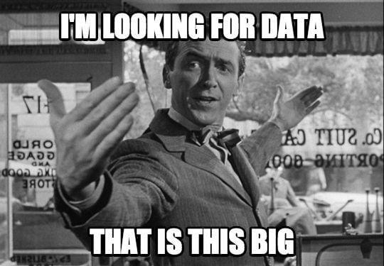 Data scientist looks for huge data