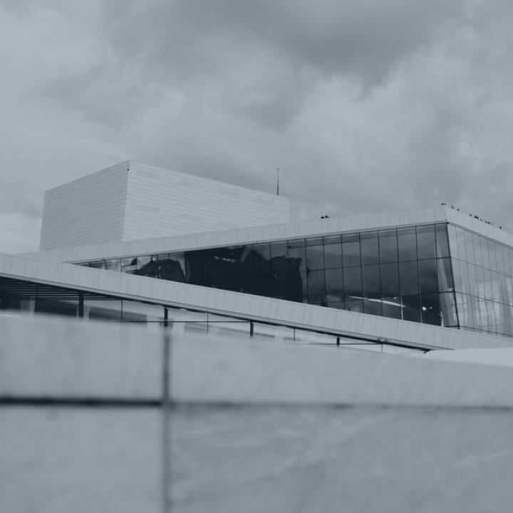 The facade of the Oslo Opera