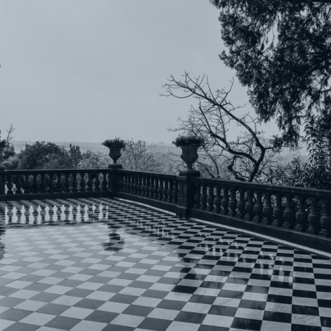 A picture of a checkered floor