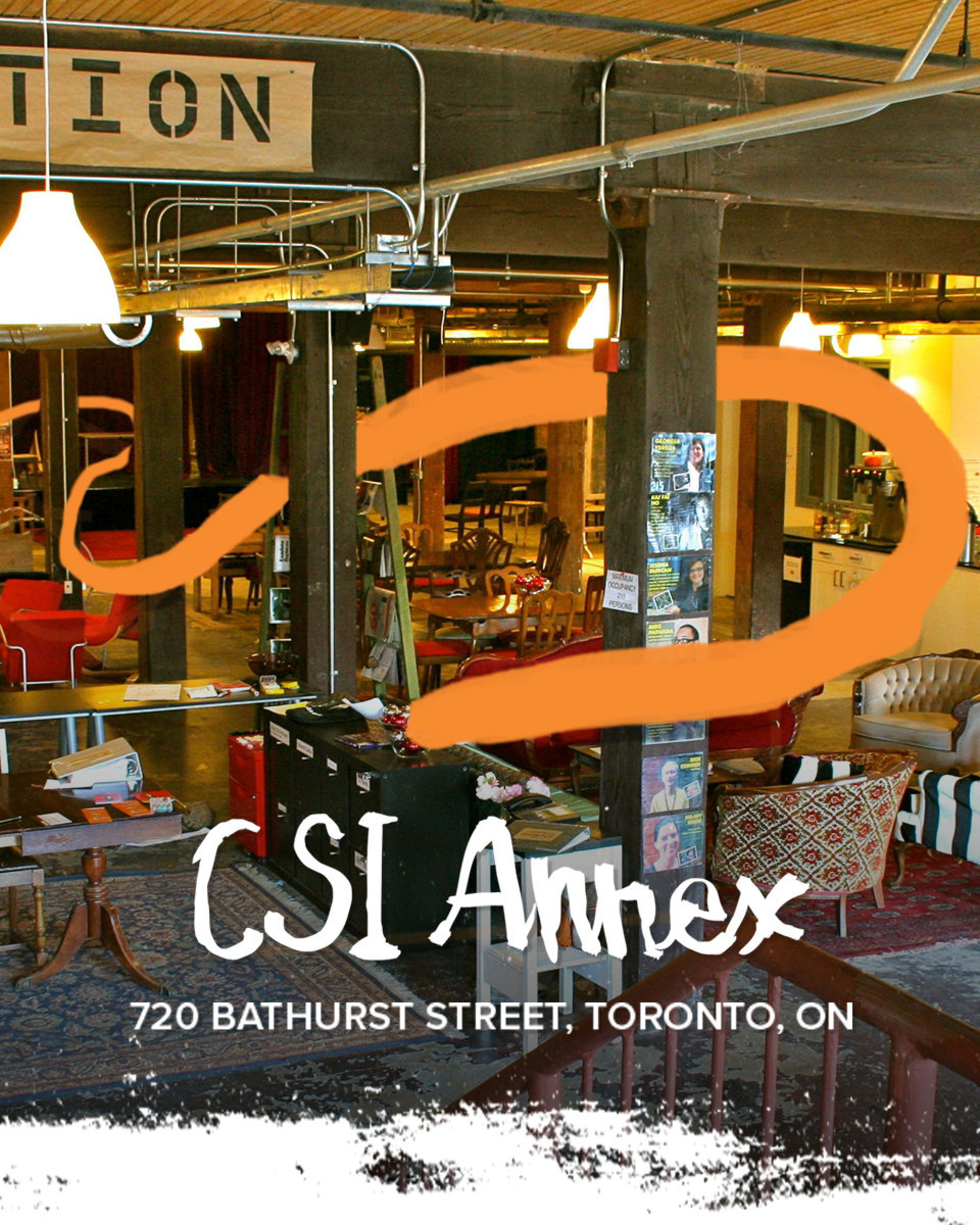CSI's annex space with some branded energy lines illustrated ontop