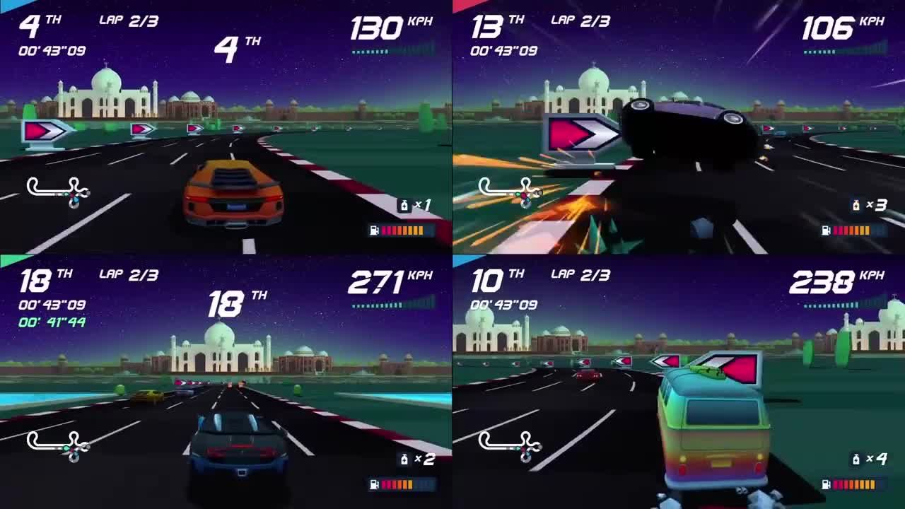 Horizon Chase Turbo 4 игрока на одном экране