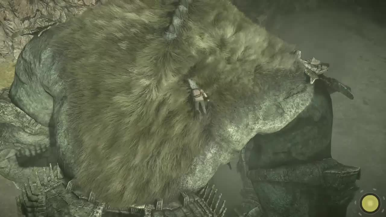 Shadow of the Colossus первый босс (колосс)