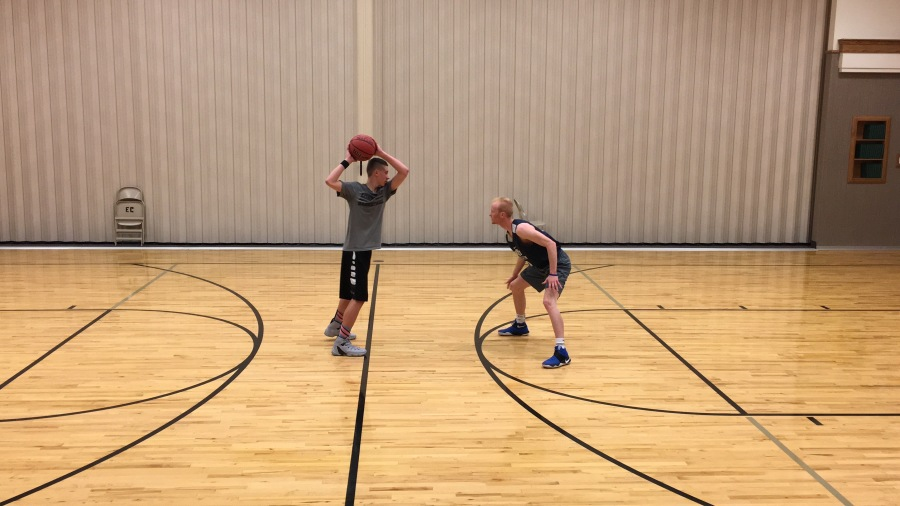 Working out with BYU's TJ Haws
