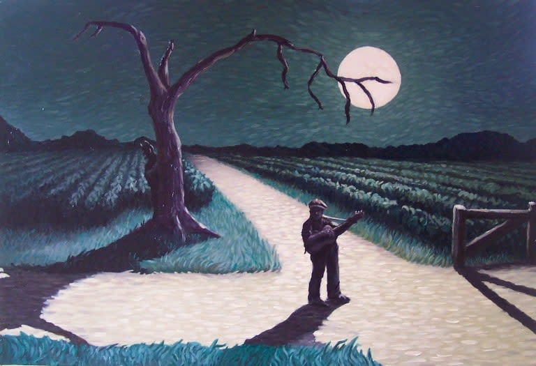 Beautiful illustration of Johnson at the Crossroads