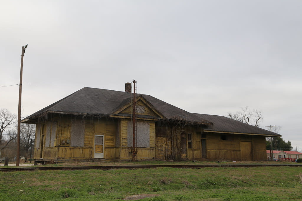 Train station in Tutwiler, Mississippi