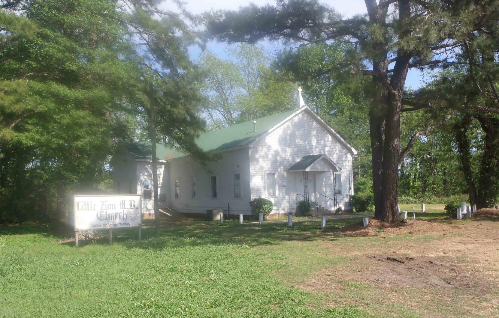 Little Zion Baptist Church in Greenwood, Mississippi