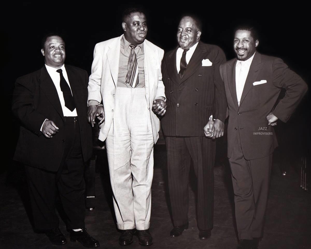 Meade Lux Lewis, Art Tatum, Pete Johnson and Erroll Garner © Gilles Petard
