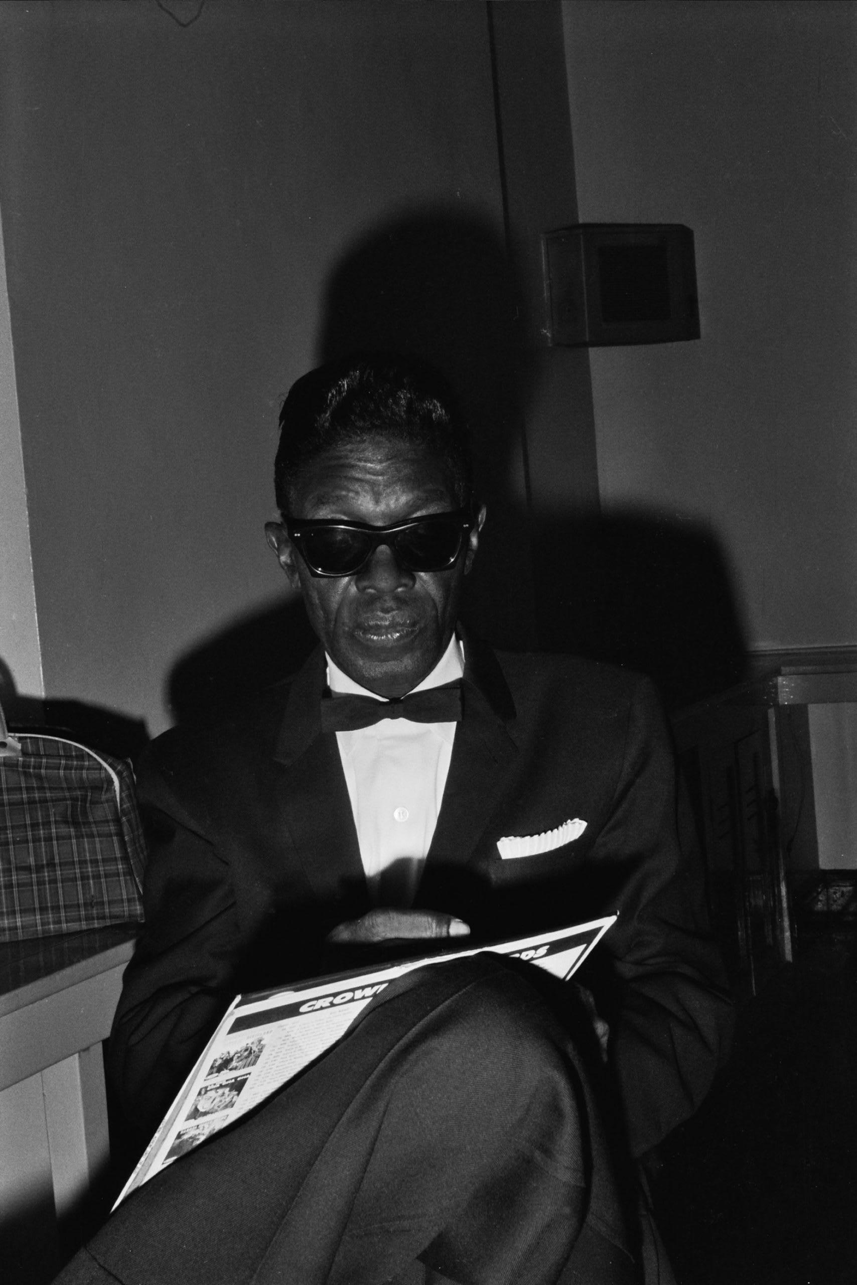 Portrait of Lightnin' Hopkins. A Texas Blues musician