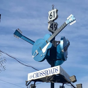 The famous intersection of Highway 61 and Highway 49