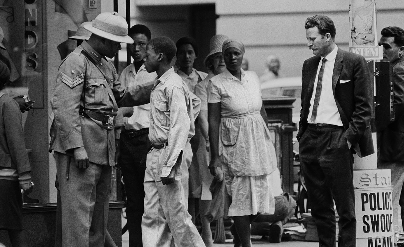 Pass raid, circa 1965, Johannesburg. One of the found South African negatives of Ernest Cole's archive thought to have been lost.