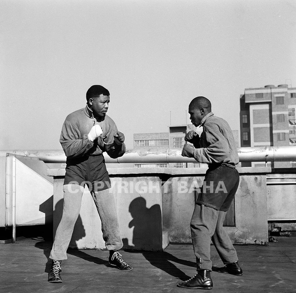Mandela boxing – End of Round One. (Photograph: BAHA)