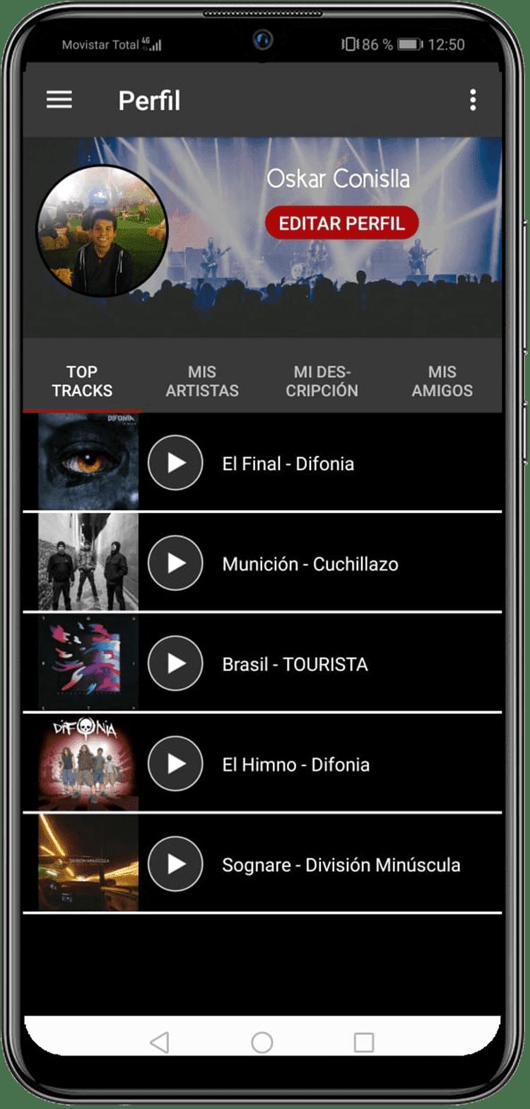 Plugmusix App Preview Perfil Musical