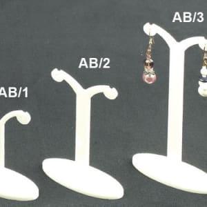 Plexiglass display earrings white