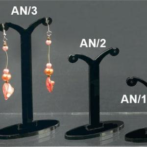 Plexiglass display earrings black