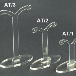 Plexiglass display earrings transparent