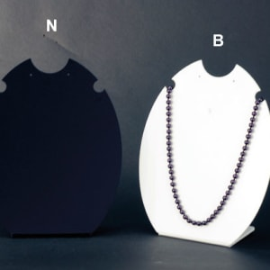 Plexiglass display for necklaces and earrings