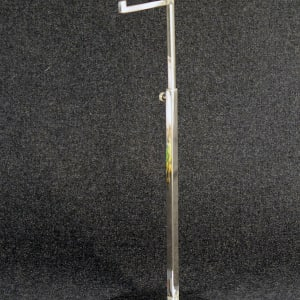 Adjustable display for bags  with chrome base and rod