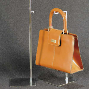 Adjustable display for bags