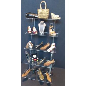 Espositori per scarpe,calzature, portalacci   Eurovetrina