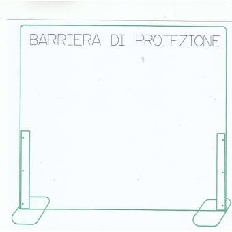 Barriere protettive in plexiglass o parafia