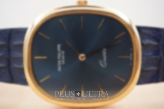 Patek Philippe Jumbo Ellipse, Sunburst Bluegold Dial, Full Set