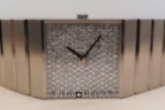 Rolex White Gold Diamond Dial Pave King Midas