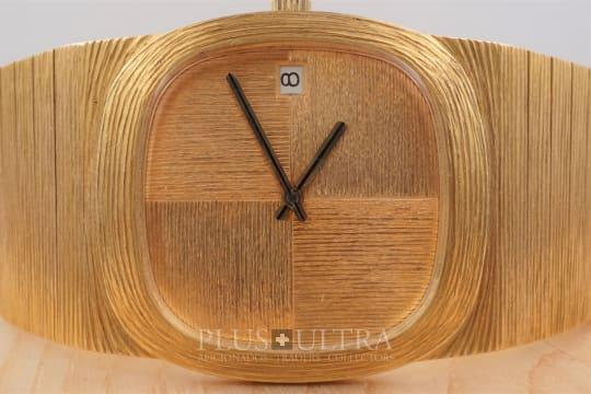 Binder Wide Bracelet 18K Rose Gold Bracelet in the Tradition of Andrew Grima & Gilbert Albert
