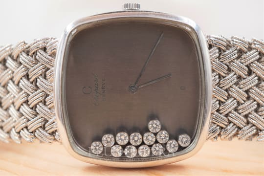 Chopard White Gold Ladies Happy Diamonds with Integrated Bracelet