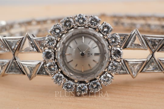 Ebel Net of Diamonds: Ladies White Gold Diamond Bracelet Backwinder