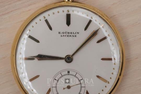 Gubelin 1930s Art Deco Pocket Watch in 18K Yellow Gold for Paul