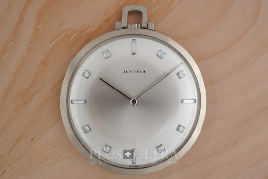 Juvenia White Gold Diamond Pocket Watch, Spillmann Case
