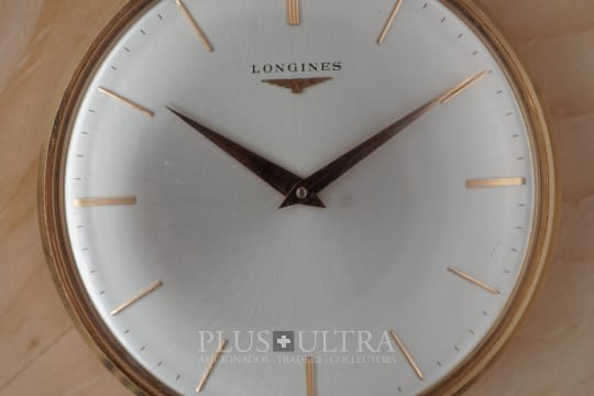 Longines Stunning Dial Open Face 18K Rose Gold Pocket Watch
