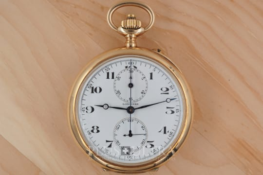 Longines Historical Pocket Watch Monopusher Chronograph, cal 19.73N