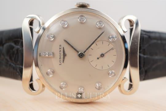 Longines 50s White Gold Two Tone Diamond Dial, Funky & Fancy Lugs