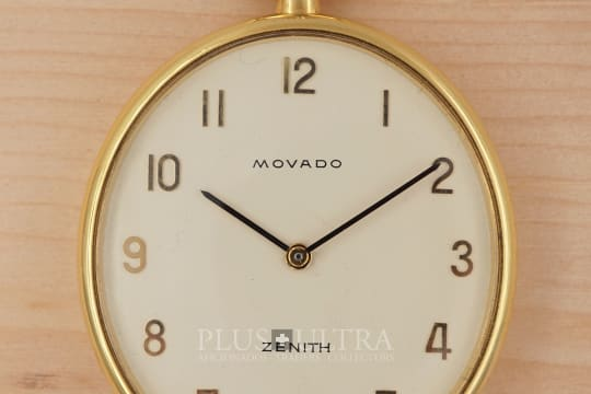 Movado Zenith Ellipse Pocket Watch, Rare, Doublesigned
