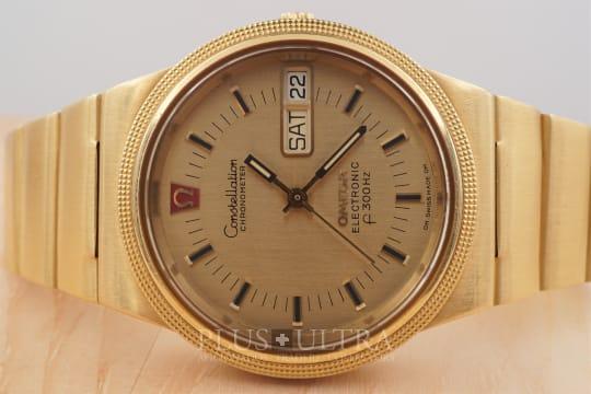 Omega Constellation f300Hz Electronic Chronometer, Tuning Fork, 18K