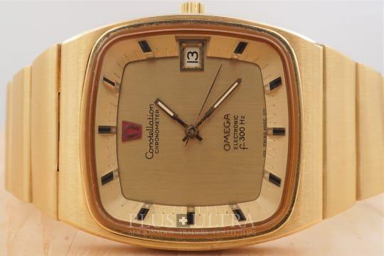 Omega Constellation f300Hz Electronic Chronometer, 18K, Tuning Fork, Full Set