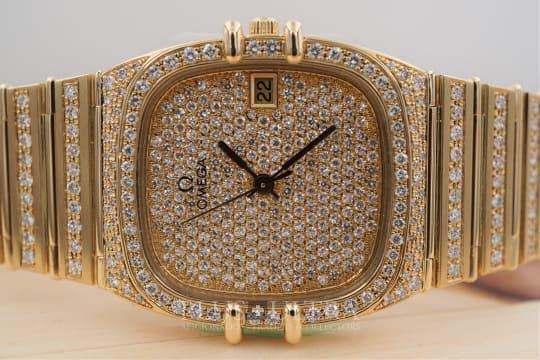 Omega Constellation Manhattan Factory Diamonds, Omega Serviced