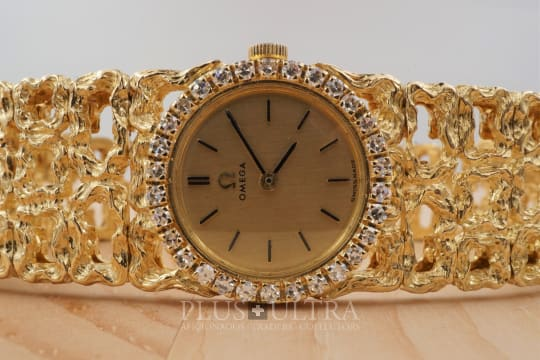 Omega Gilbert Albert Mailles d'Or et Diamants Ladies, Baumgartner Case