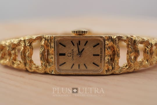 Omega Mailles de Or Bracelet Watch for Ladies by Gilbert Albert
