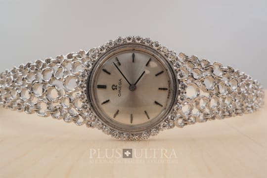 Omega Gilbert Albert Mailles d'Or, Ladies White Gold & Diamonds Jewel