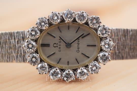 Omega White Gold Diamonds Ladies Ellipse