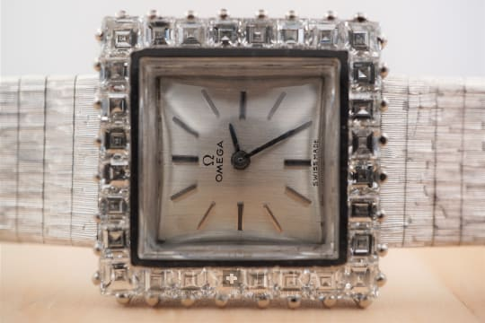 Omega Diamond Set White Gold Ladies Carre
