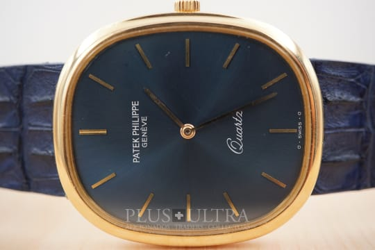 Patek Philippe Jumbo Ellipse, Sunburst Bluegold Dial, Full Set
