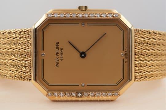 Patek Philippe Octagonal Diamond Set Gondolo, Integrated Bracelet