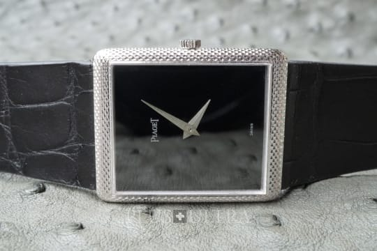Piaget White Gold Tank with Onyx Dial