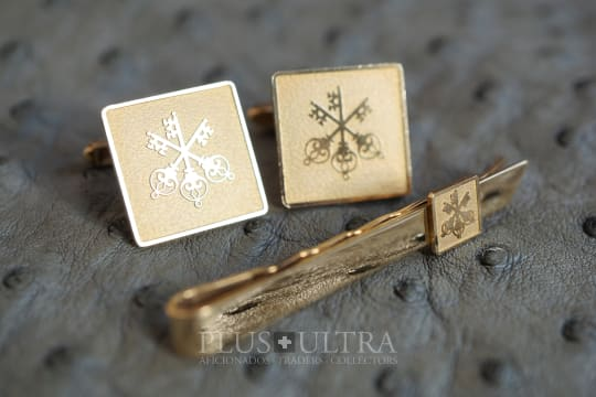Piece Unique Cufflinks & Tie Pin for Swiss Bank Corp. / UBS
