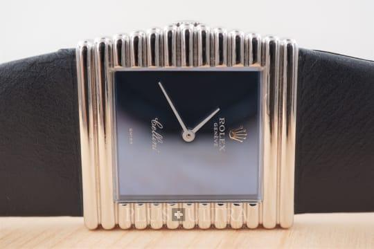 Rolex White Gold Blue Dial Cellini King Midas, Rare Tube Case