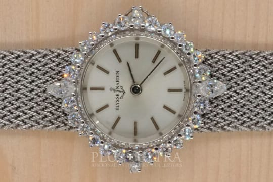 Ulysse Nardin White Gold High Class Diamond Ladies Watch