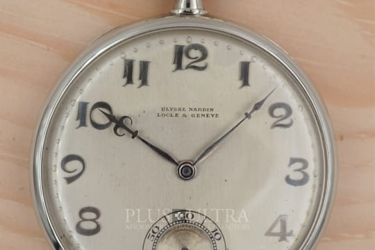 Ulysse Nardin 1920 White Gold Pocket Watch, Doublesigned: Leicht-Mayer